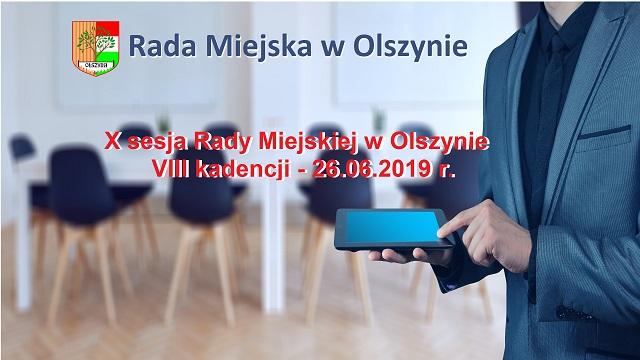 X sesja Rady Miejskiej w Olszynie VIII kadencji